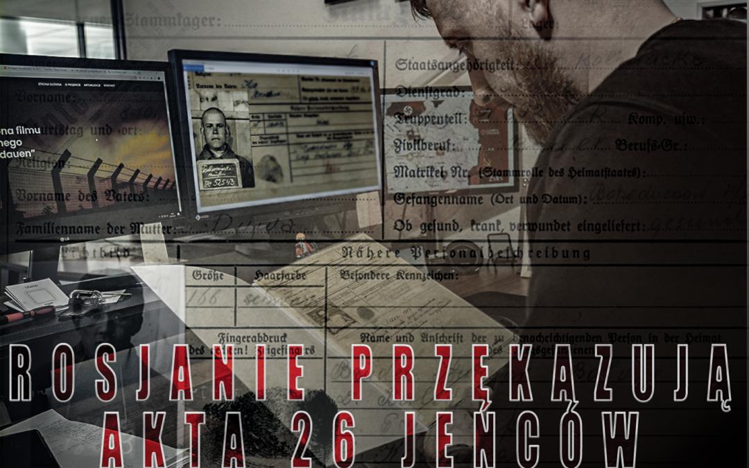 Rosyjskie Archiwum Państwowe przekazało wgląd do akt 26 jeńców radzieckich